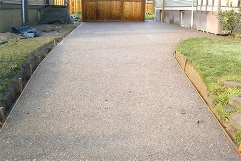 exposed aggregate driveway design buchheit construction