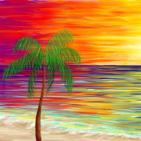 palm tree drawings sketchport