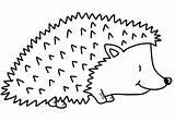 Hedgehog Coloring Printable Paper Domain Categories Supercoloring sketch template