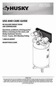 Husky C801h Use And Care Manual