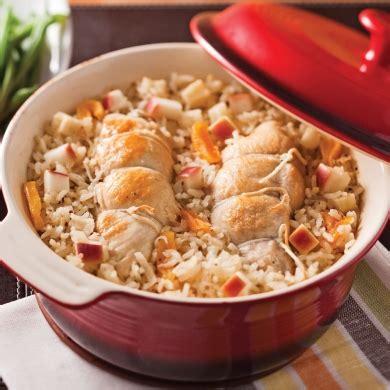 cuisiner le coq coq au porc aux pommes et abricots recettes cuisine et