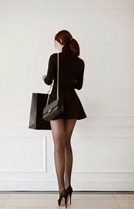 High Heels  Short Skirt And Long Legs