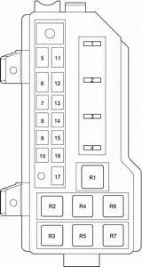 Toyota Hiace  2004 - 2013  - Fuse Box Diagram