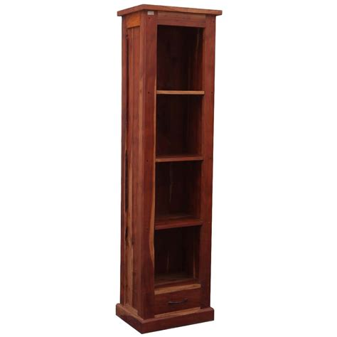 Bookcase Tower by Mission Solid Hardwood 4 Shelf 69 Quot Tower Open Cabinet Bookcase