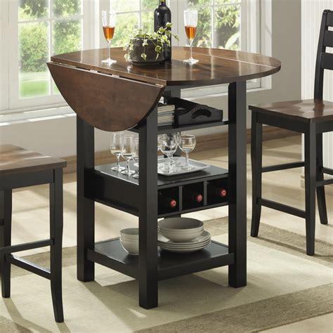 pub table with wine rack bernards ridgewood drop leaf pub table with wine rack