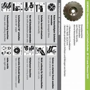 Fliesen Kanten Schleifen : dewepro diamanttrennscheibe schleifscheibe 115mm ~ Michelbontemps.com Haus und Dekorationen