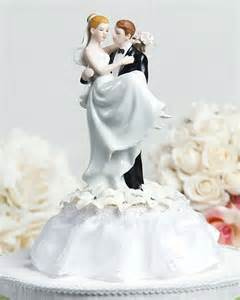 cake toppers for weddings stephanotis cake topper with groom holding wedding collectibles