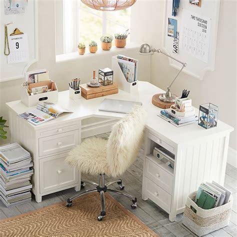 beadboard smart corner desk simply white kids rooms
