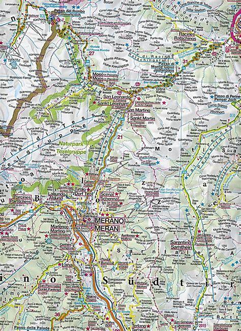 kompass karte suedtirol dolomiten mit panorama alto adige