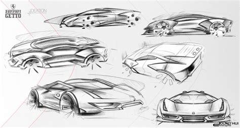 ferrari enzo sketch ferrari getto concept car body design
