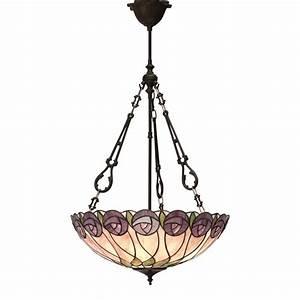 Mackintosh, Style, Art, Nouveau, Tiffany, Uplighter, Ceiling, Pendant, Light