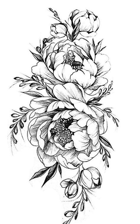 Image result for peonies drawing | Tattoos, Sleeve tattoos, Flower tattoo designs