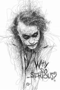 Joker - Why So Serious? #Drawing | BATMAN......being still ...