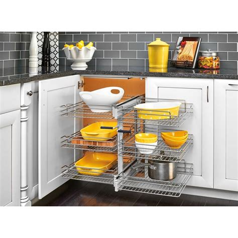 wire storage baskets for kitchen cabinets rev a shelf 18 in corner cabinet pull out chrome 3 tier