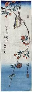 Small Bird on a Branch of Kaidozakura - Hiroshige ...