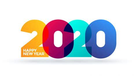 feliz ano novo  design de texto de logotipo modelo de