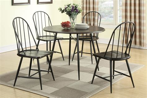 furniture black iron dining chair with cross back placed