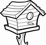 Bird Coloring Pages Birdhouse Drawing Colouring Houses Sheets Tocolor Printable Place Getcolorings Getdrawings Button Using sketch template