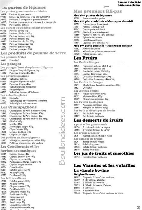 liste des produits picard sans gluten mise 224 jour juin2014 - Liste One