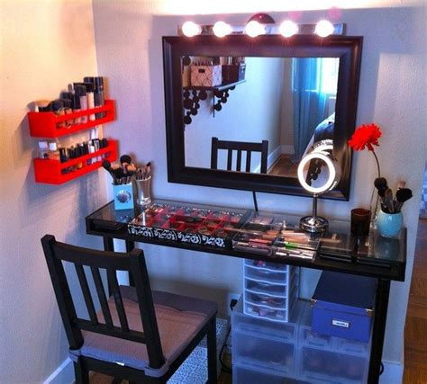 mirrored makeup storage   stylish   unclutter