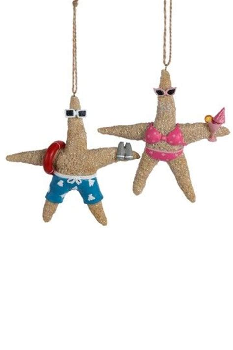 kurt adler 5 quot resin starfish ornament seaside christmas