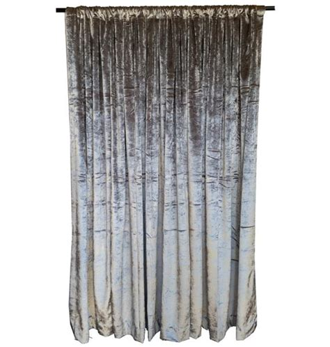 silver 12 ft h velvet curtain panel window