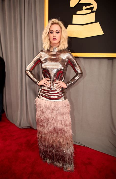 Katy Perry Grammys Red Carpet 2017
