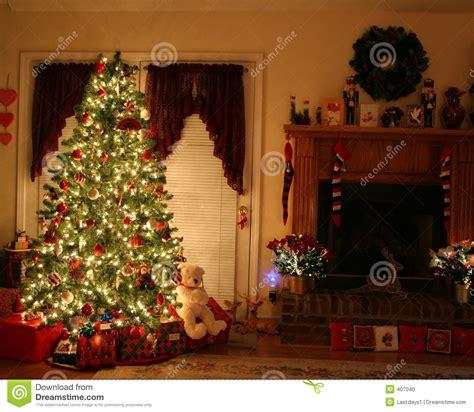 Weihnachten Zu Hause Stockfoto Bild Von Lehnsessel