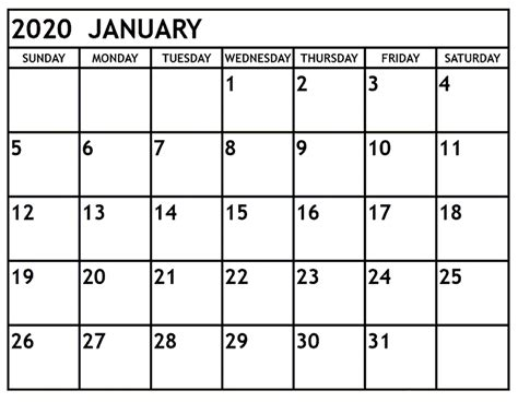 january calendar template calendar
