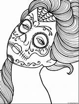 Death Coloring Pages Printable Adult Getcolorings Sheets sketch template
