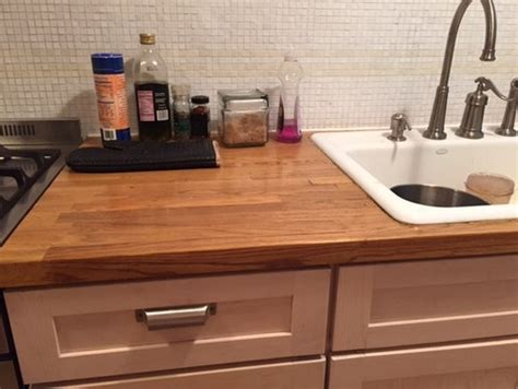 Marble And Butcher Block Countertops by Help Installing Marble Countertop In Place Of Butcher Block