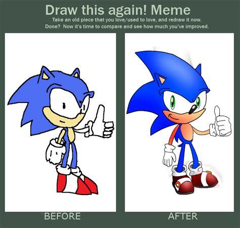 Sonic The Hedgehog Meme - draw this again meme sonic the hedgehog by