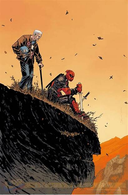 Wolverine Death Deadpool Captain America Variant Interview