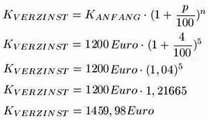 Durchschnittszinssatz Berechnen : zinseszins berechnen ~ Themetempest.com Abrechnung