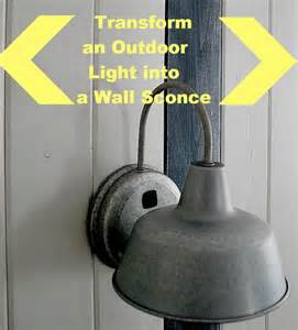add diy switches to outdoor sconces to make indoor bedside lights