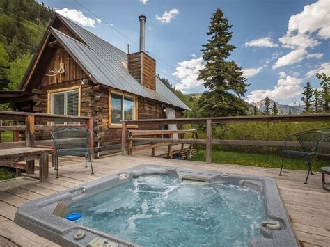 cabin rentals in colorado with tubs cabin with tub 1 2 mile to purgatory