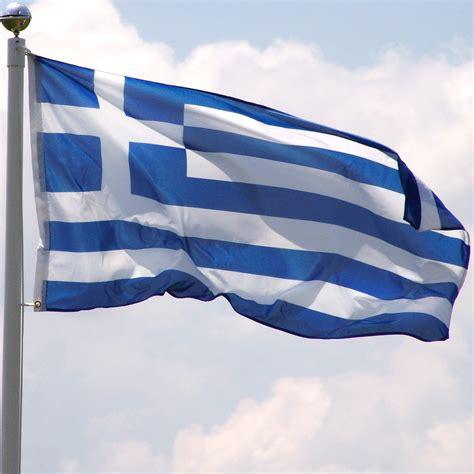 Greece flag 3ft x 5ft Super Knit polyester