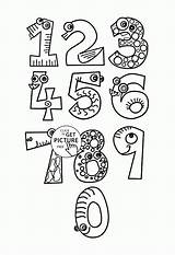 Numbers Coloring Pages Monster Counting Printables Books Number Wuppsy Math Colouring Worksheets Alphabet Printable Recolor Sheets Sheet Funny Adults Fun sketch template