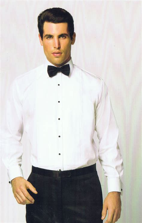 pleated cuff formal tuxedo shirt classic fit suits formal wearsuits