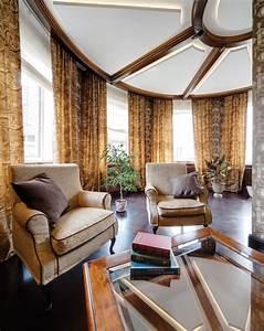 Traditional, Interior, Design, In, Creme, Color, Scheme, With, Dark, Furniture