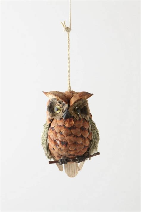 pine cone owl ornaments made from pine cones christmas pinterest