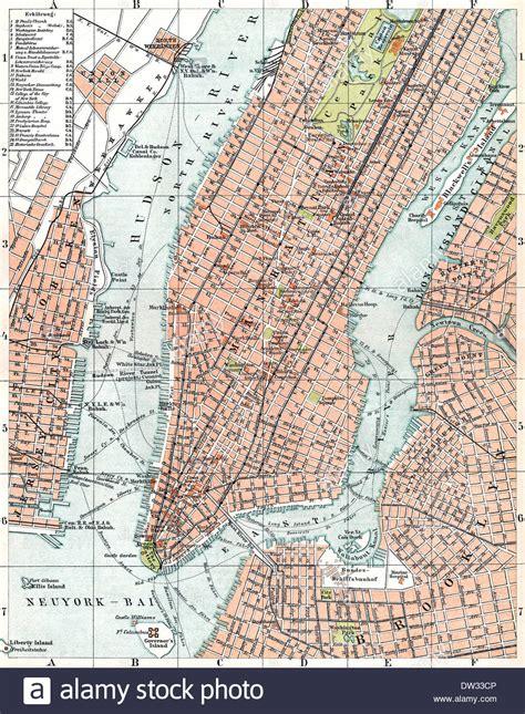 historical map   york city usa  stock photo
