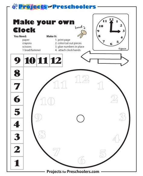 kindergarten clock template check out more free coloring