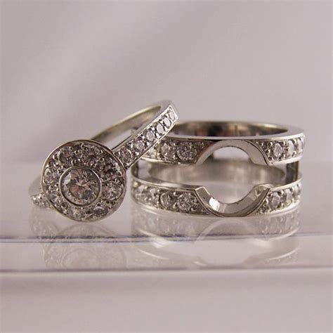 wedding rings to fit around engagement ring slot to fit engagement wedding rings ring jewellery