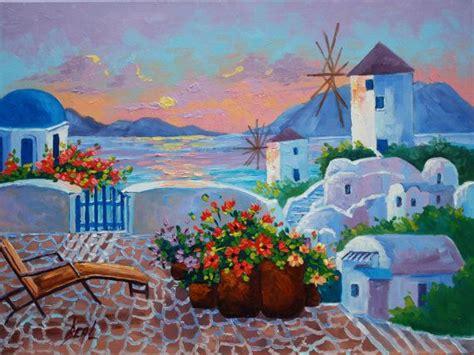 Santorini Paintings