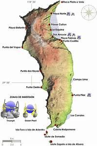 Mapa De Isla Guadalupe Mostrando La Localizaci U00f3n De