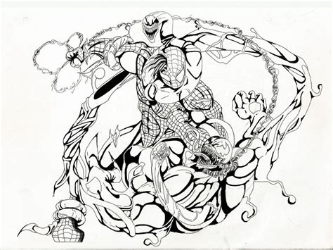 Spiderman And Venom Coloring Page