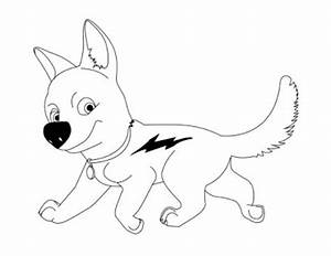 """Free printable disney bolt """" dog """" cartoon coloring pages"""