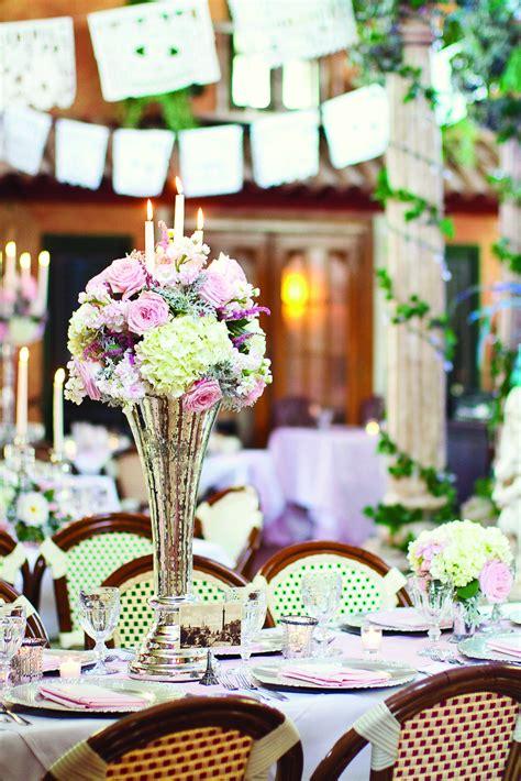 Pink Gold and Cream Centerpieces Wedding centerpieces