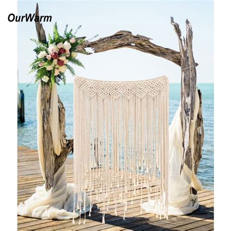 Yet, properly decorated, the stair wall can have a significant effect on the house's interior. OurWarm Macrame Wedding Backdrop Curtain Wall Hanging Boho Wedding Hanger Cotton Handmade Wall ...